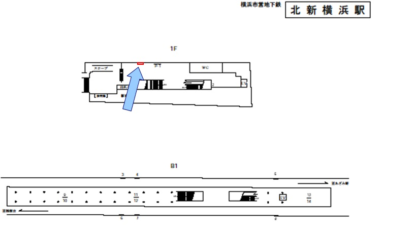 北新横浜駅媒体画像